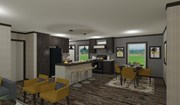 Open Kitchen & Living Area