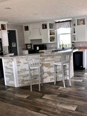 Large Kitchen Island with Airstone Accents