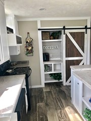 Coffee Bar w/ Sliding Barn Door