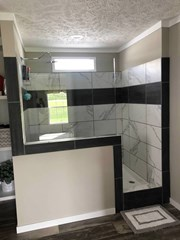 Rock Star Tile Shower w/ Glass Enclosure