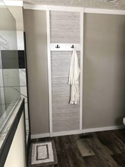 Robe/Towel Rack in Master Bathroom