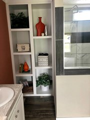 Storage Cubbies in Master Bath