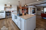 Large Kitchen Island w/ Granite Top