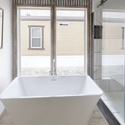 Free Standing Soaker Tub in Master Bathroom